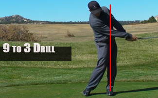 9 to 3 Golf Swing Drill