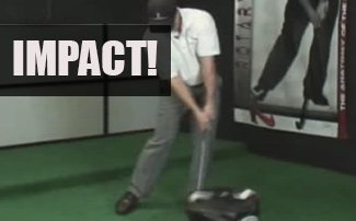 Golf Impact Position Face On: Stack for Safety, Distance
