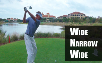 Wide-to-Narrow Golf Swing Must Finish Wide for Speed