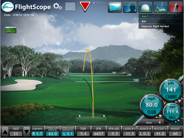 flightscope ball flight