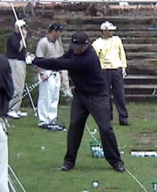 Ben Hogan's Golf Swing Face On | RotarySwing com
