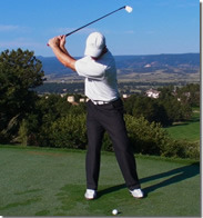 Rotary Swing Tour backswing face on