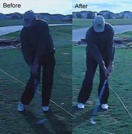 fix golf impact position