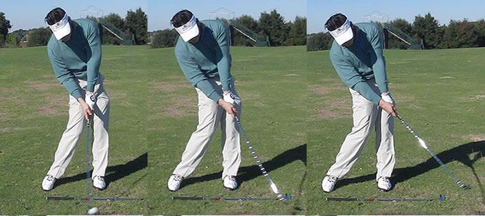 Korean pro golfer poor impact position with Leadbetter