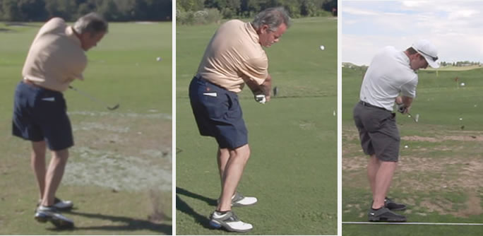 amateur golfer improves his golf swing release