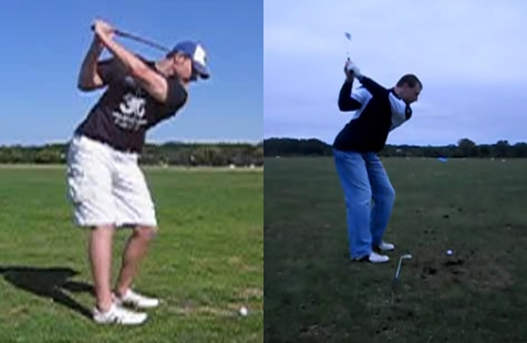 shorter backswing