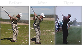 golf videos help students make a full shoulder turn