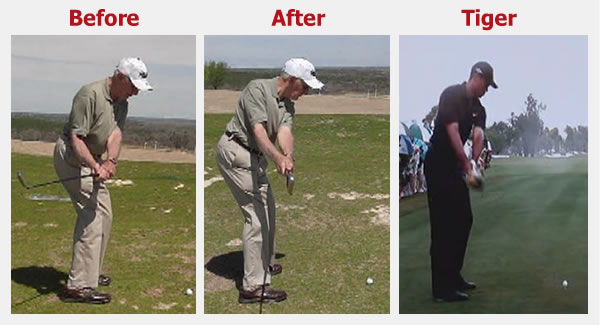 79-year-old improves his golf swing takeaway