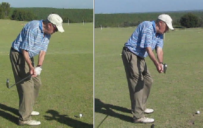 improve your golf takeaway like this student in his late 70s