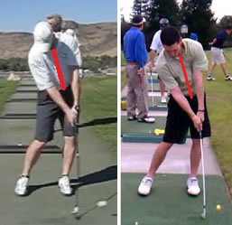 perfect golf impact position