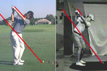 tiger woods new swing top position with Hank Haney