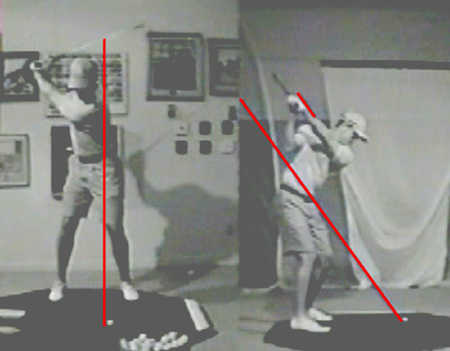 tiger woods top of backswing