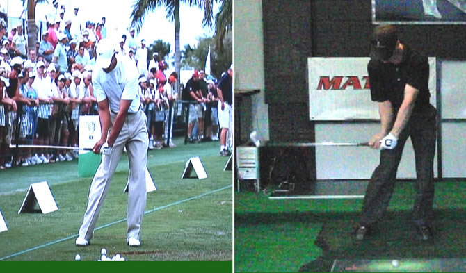 Tiger Woods' swing
