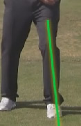 left knee in golf backswing