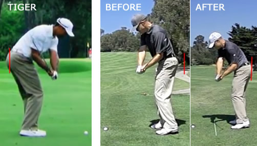 maintain your posture in the downswing