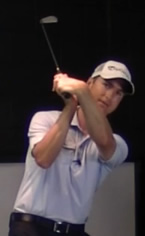 club face aligned with spine angle