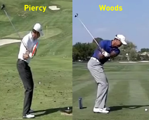 scott piercy vs tiger woods downswing stuck