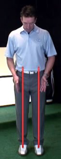 how to determine neutral stance width in golf