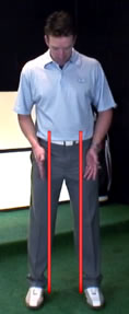 perfect width of golf stance