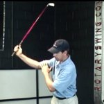 Right elbow in the backswing
