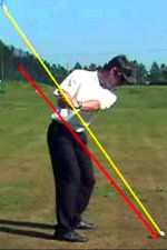 Shaft points at ball