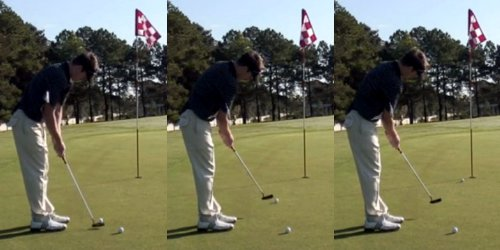 Putt with the shaft in place