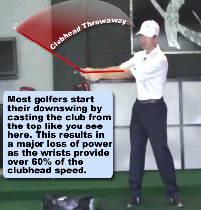 casting golf club and losing lag in golf swing