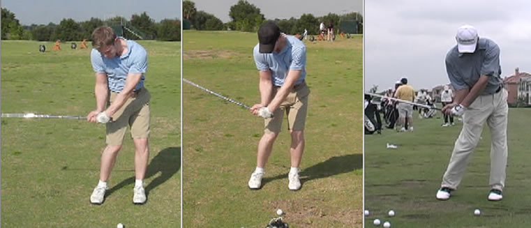 pro golfer demonstrates how to improve golf swing lag