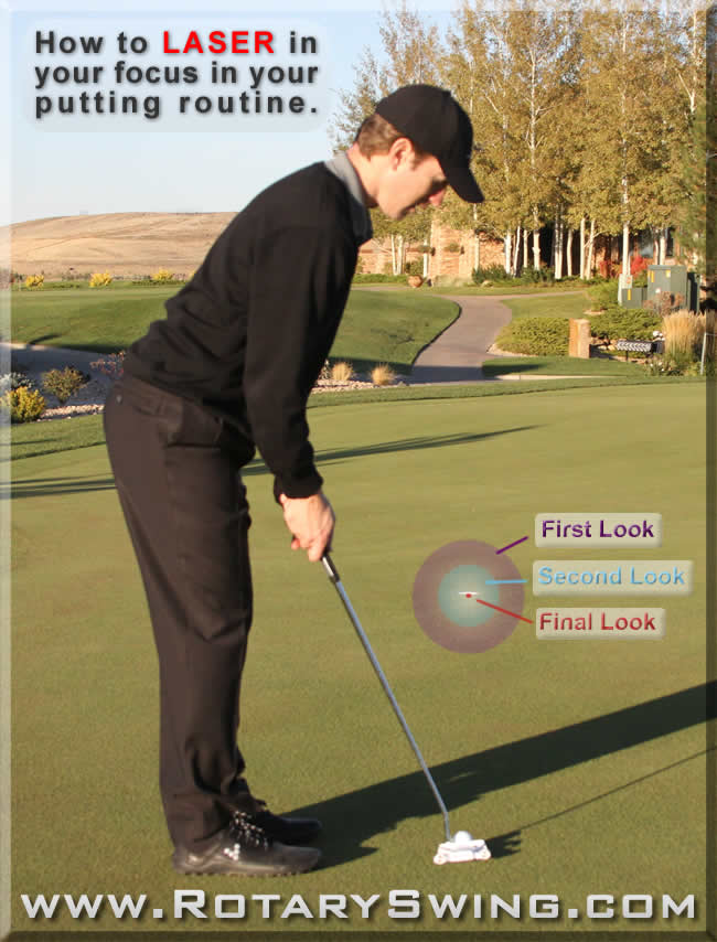 how to putt with laser like focus