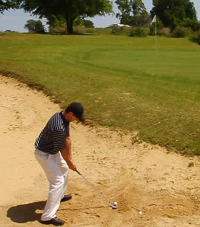 how to hit a sand shot