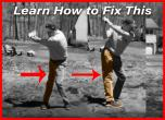 How to Fix Trail Leg Straightening in Backswing