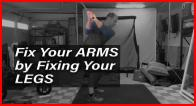 Live Lesson - How to Fix Your Arms by Fixing Your Legs in the Backswing