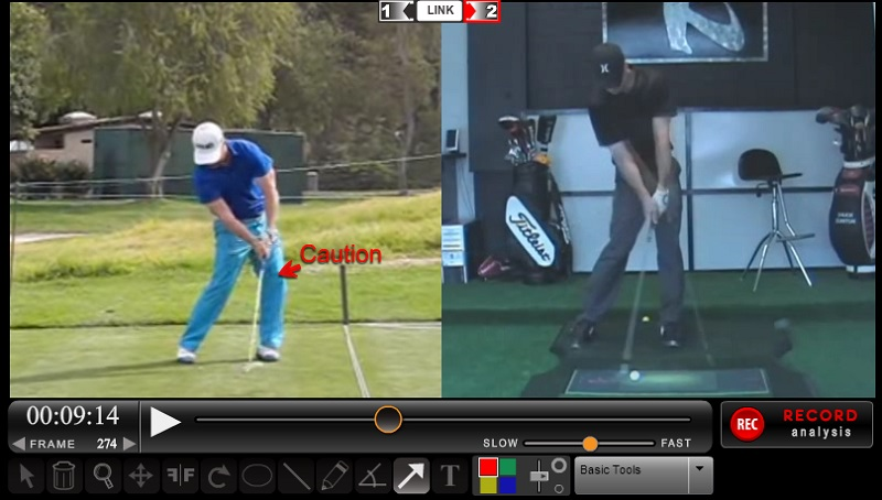 David Lingmerth - Left Leg Impact Position